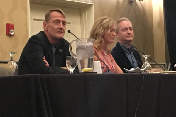 - Lee Childs, Tasha Alexander and Andrew Grant at All in the Family panel.