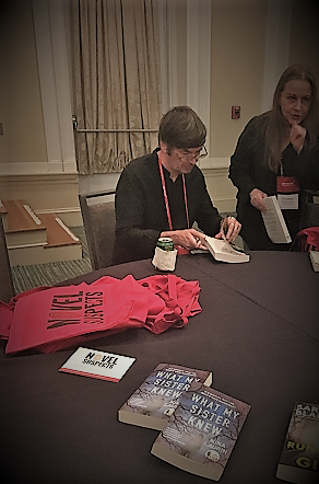 Author Ian Rankin signing at Bouchercon 2018