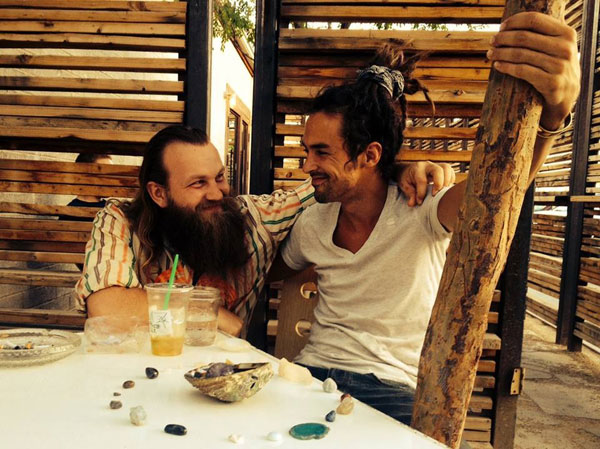 With artist Sol Seraf (Christian O'Connell) contemplating joys of life.