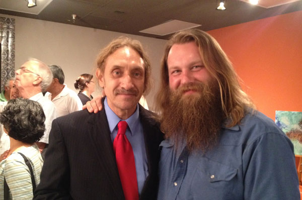 With Steve Bass, artist & photographer at Dearing Art Show.