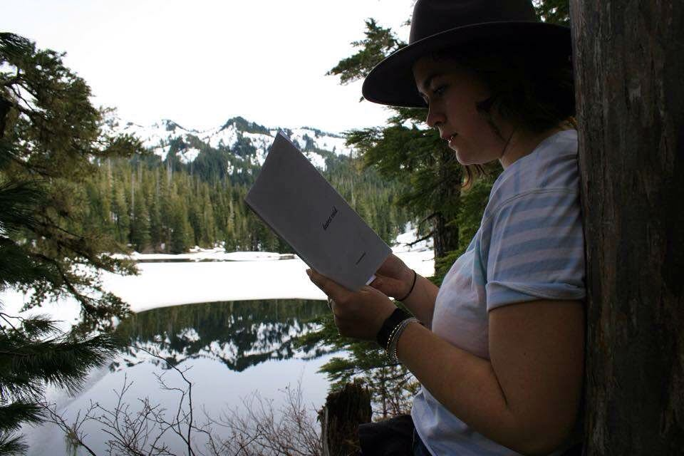 dearest void being read in an amazing setting. photo courtesy of the reader.