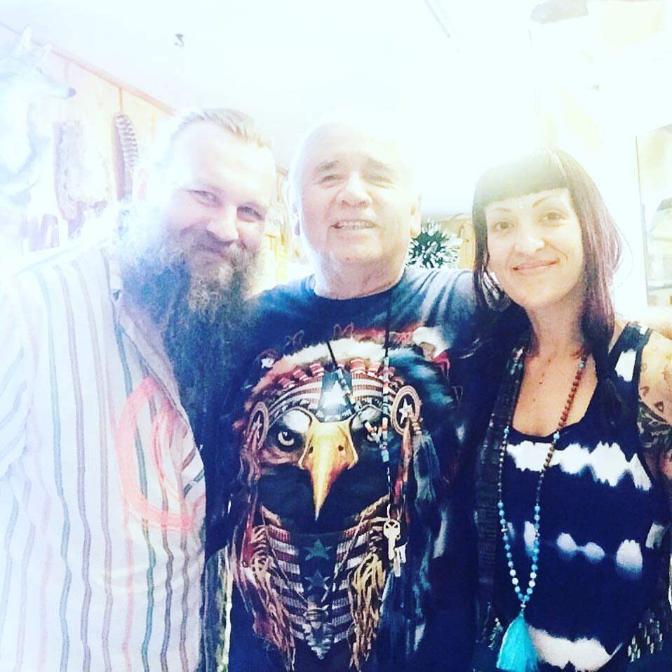 Igor, Chief Golden Light Eagle & Nicole in Sedona, AZ.