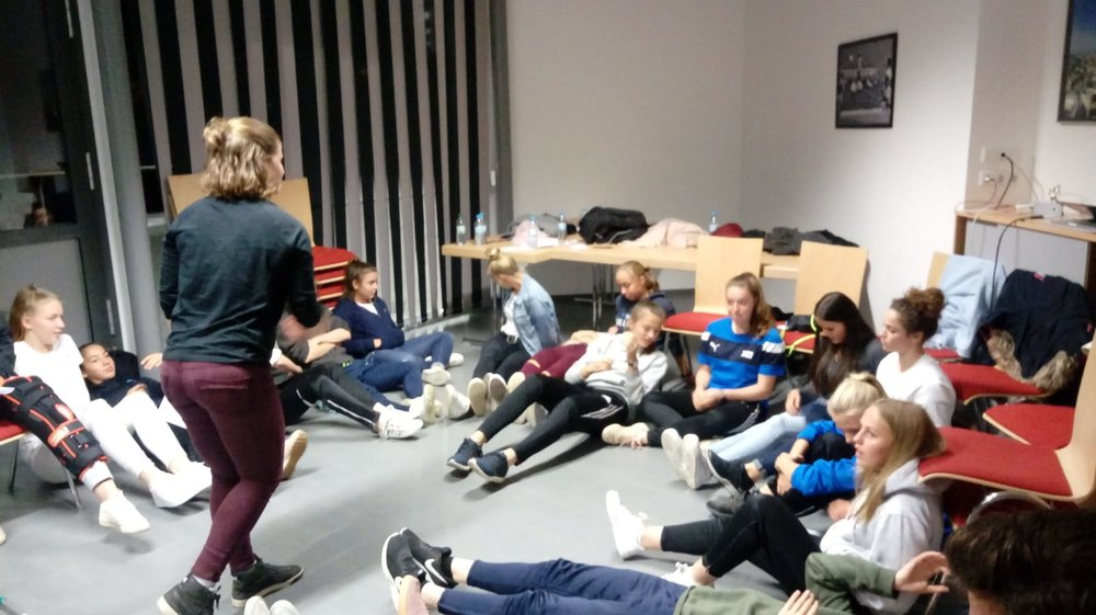 Teaching quietness and meditation as skills for relaxation with young athletes.