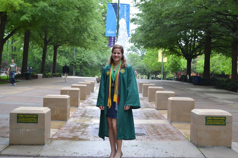 Convocation at George Mason University. After leaving sports, I finally realized that my brain was my biggest tool and needed to apply that to make athletes better.