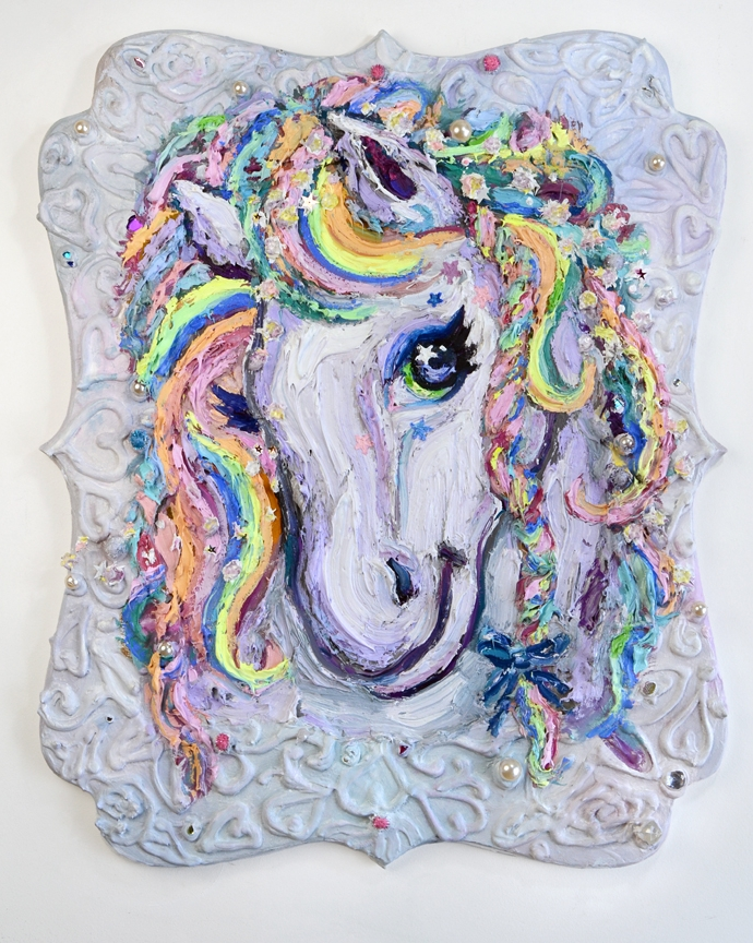 Magical Horse Portrait (after Lisa Frank)