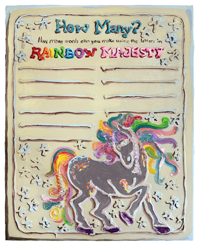 How Many Words? (after Lisa Frank)