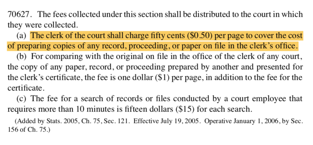 California-government-code-70627-court-records-cost.png