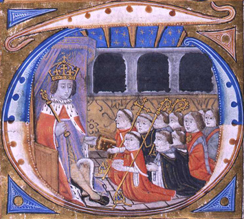 Depiction of King Henry VII's Star Chamber, circa 1504.