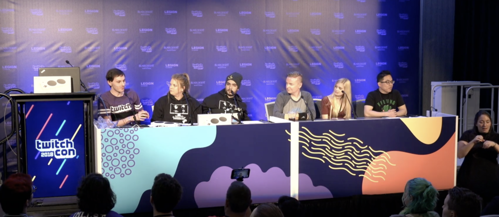VIDEO games & EB - Humphrey Hanley on a panel at TwitchCon