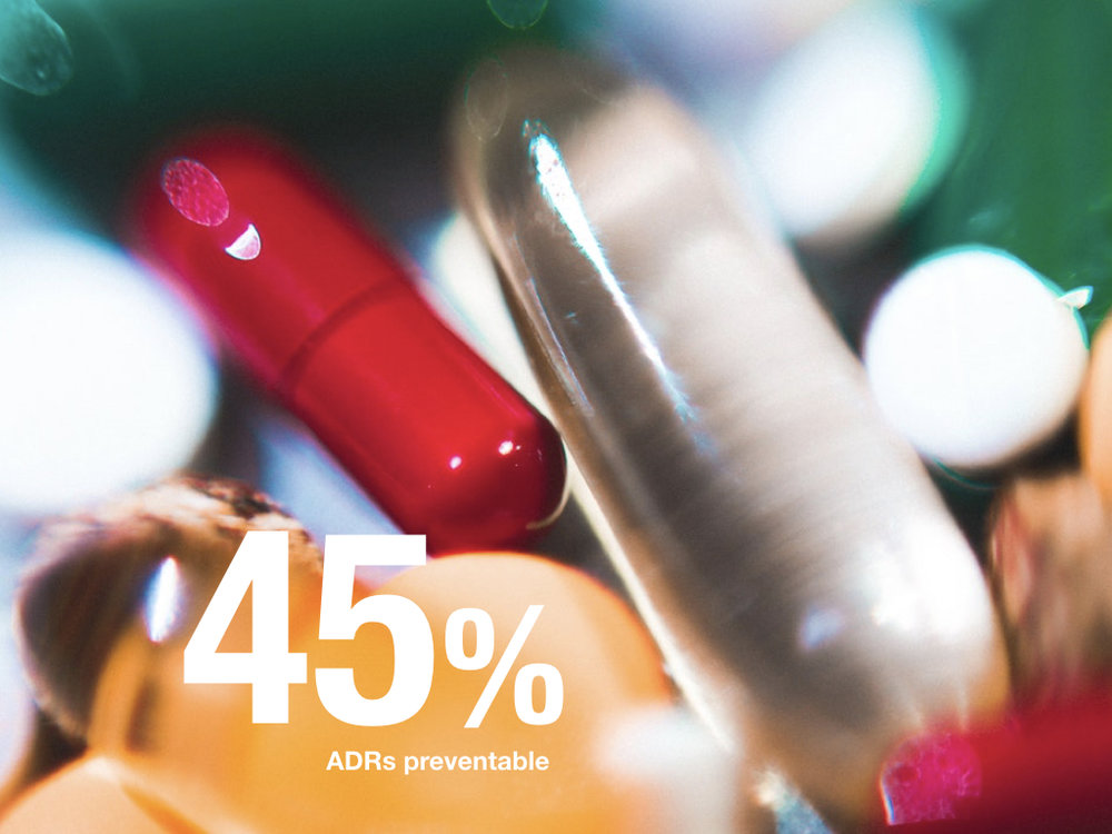 45% of ADRs are preventable (from NICE)
