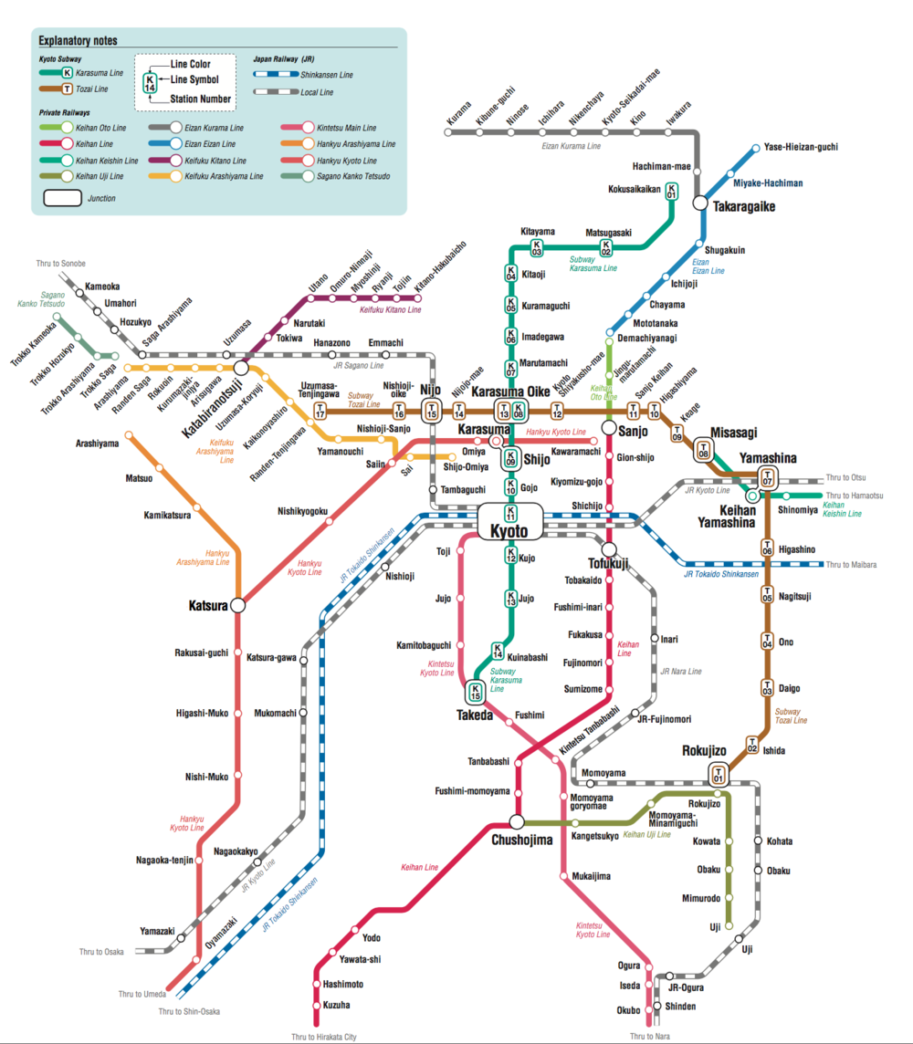 Train A Guide To Kyoto For Our Wedding