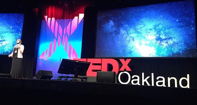 "Neuroscientist @DrMarwaAzab explains there's no journey that is as difficult, but as sweet"" as self discovery. #TEDxOakland #ShapingTomorrow"