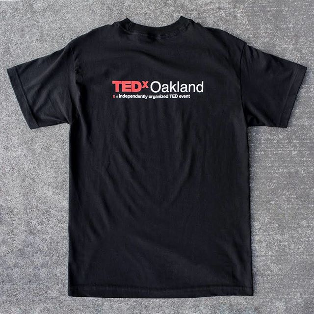Last chance to get your #tedxoakland t-shirt! This is a print to order item. Deadline to order is Wednesday November 8, 2017 11:59pm. Orders will ship by Wednesday November 22, 2017. https://www.oaklandish.com/products/ted-x-oakland-tee #oakland #shapingtomorrow #tedx