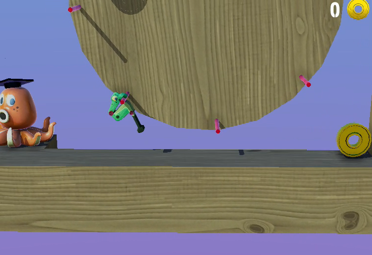 Wobble Frog Adventures - Challenging, Silly physics toy adventure.