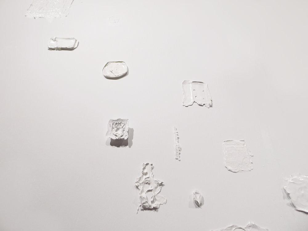 Wandering on the wall / 2011 / Acrylic