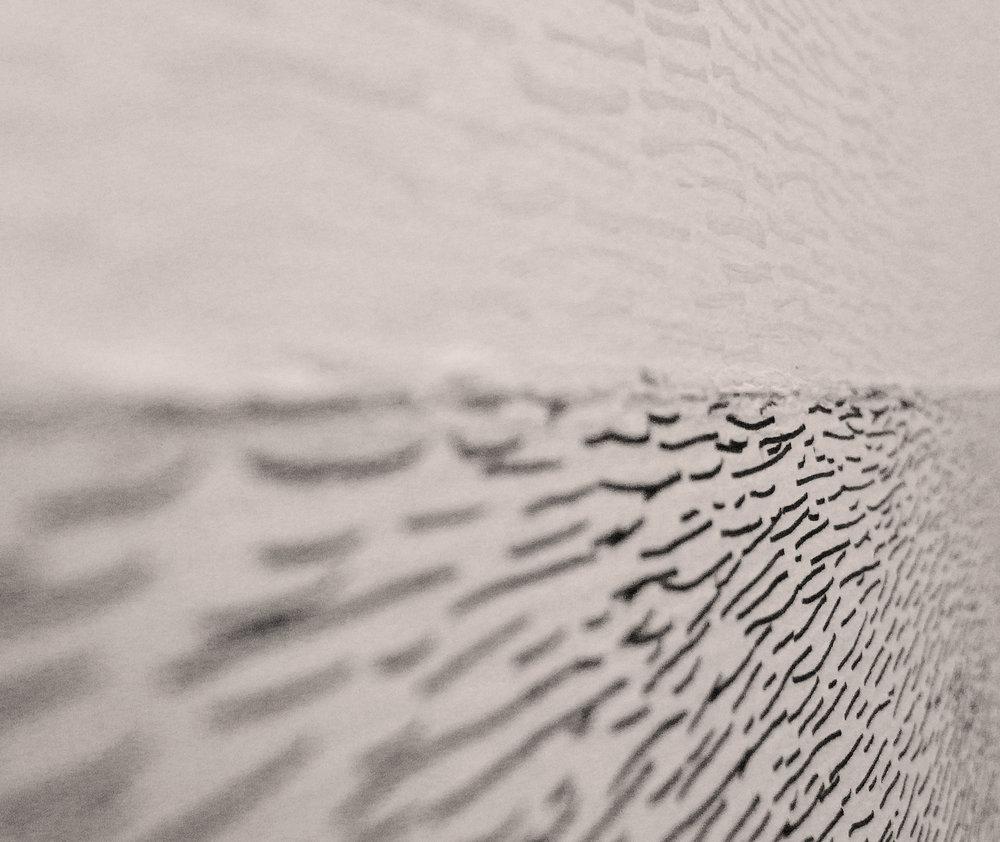 Waver (Detail) / 2010 / Correction fluid, paper / 78x109 cm