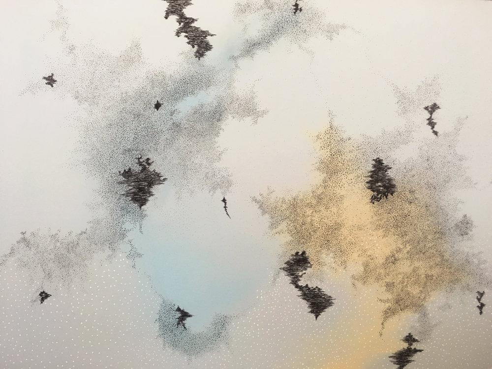 Krystallos / 2018 /75 x52 cm/ Mixed Material
