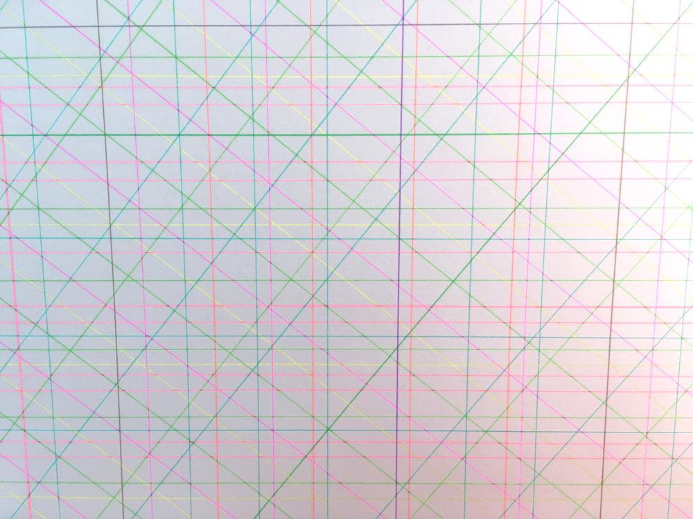 Checks/ 2018/ 24x28cm/ Ink