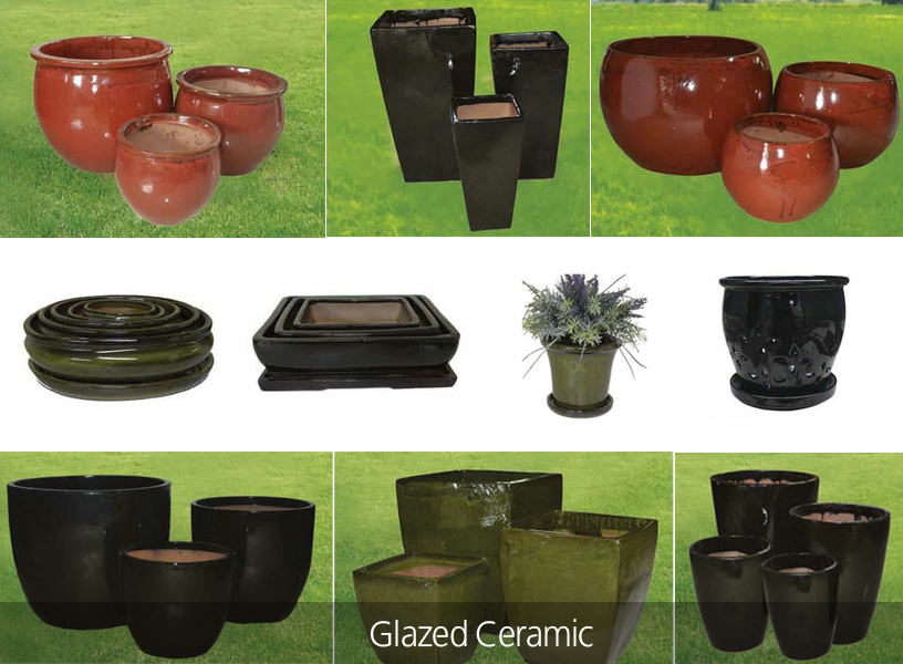 Planters - Glazed Ceramic