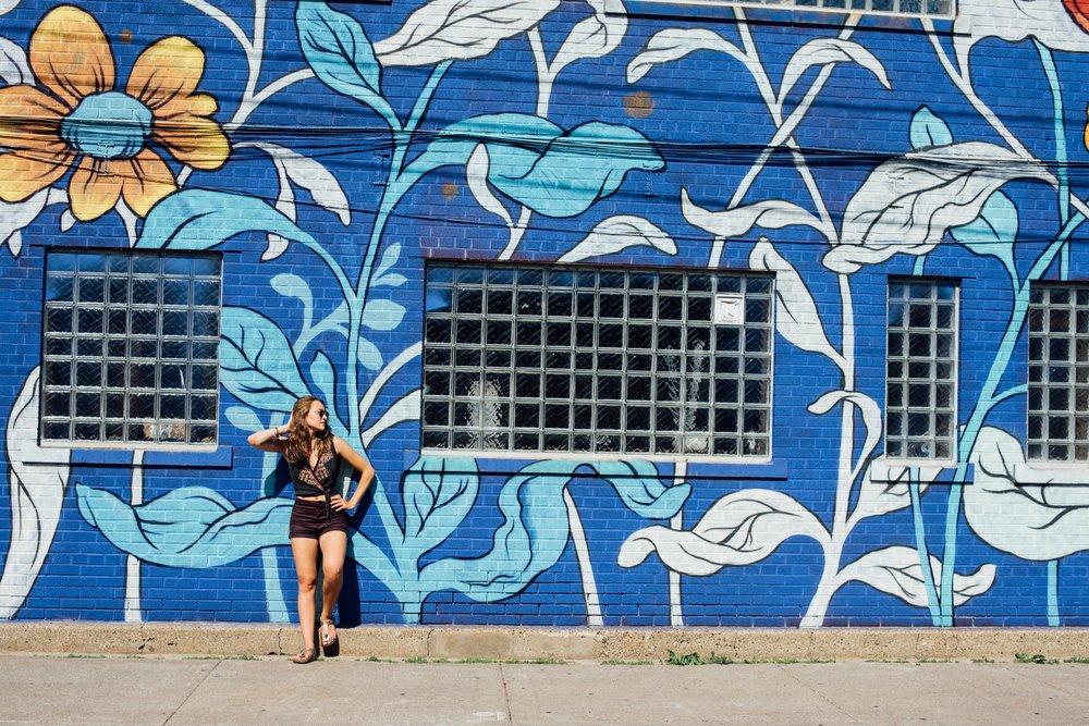 I just adore floral murals (Detroit, MI)