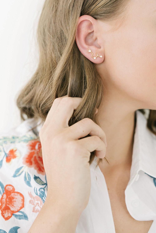 Diamond Acetylcholine Earring Pin
