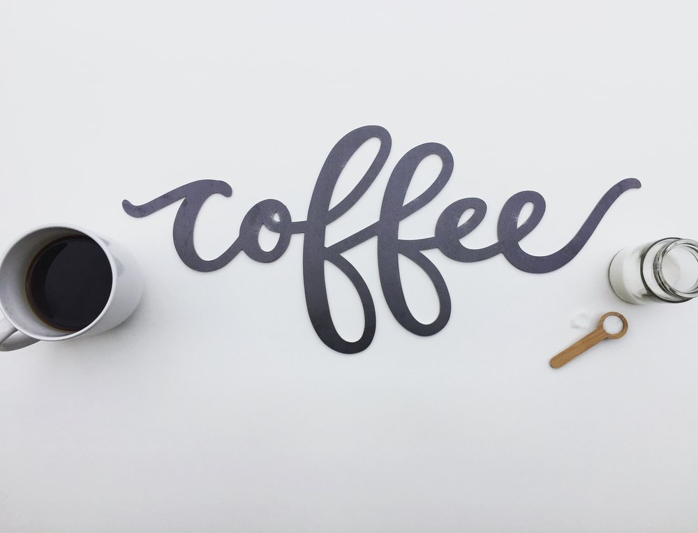 Coffee Metal Sign by Gather & Dwell