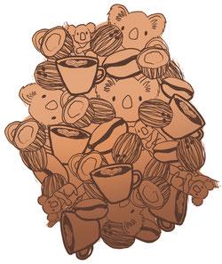 Coconut Koala Café Latte Freezie Flavour