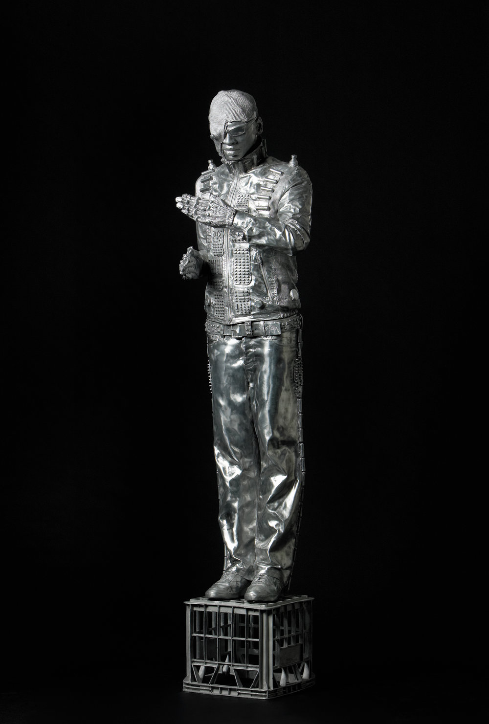 Tim , 2005, aluminium, 225x60x60cm, Gallery of Modern Art Collection Australia