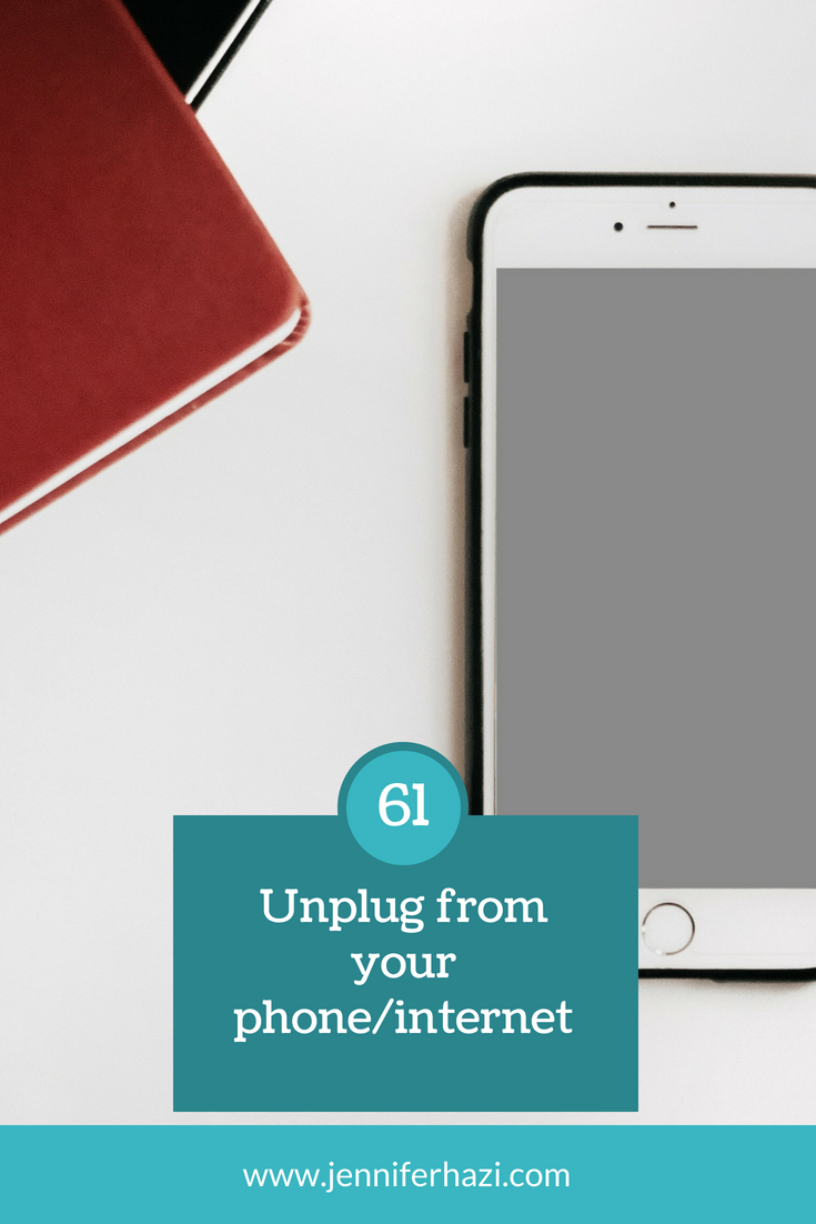 self care unplug your phone