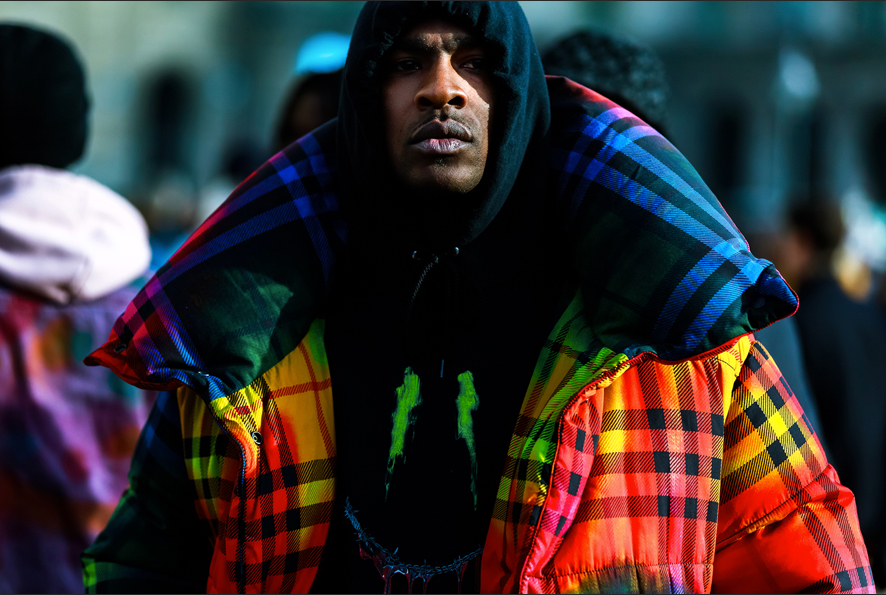 Skepta in Burberry