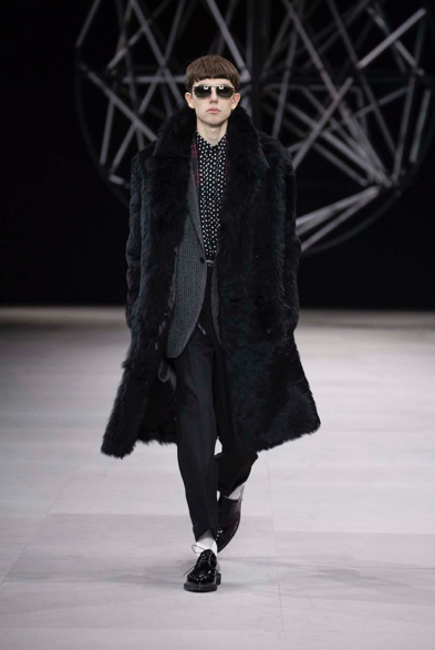 Celine Winter 19 by Hedi Slimane. The fur is Fire.
