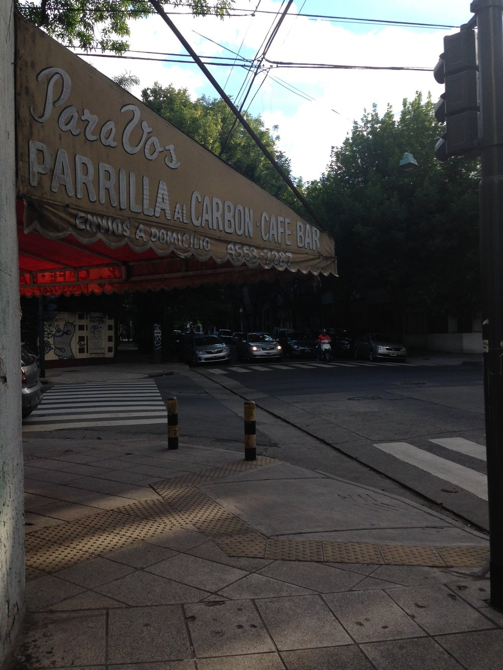 A parilla on a street corner in Buenos Aires. Photo by Allison Yates