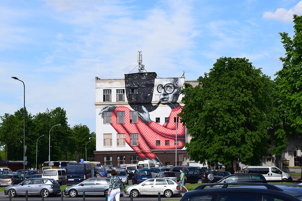 Famous Street Art in Kaunas, Lithuania