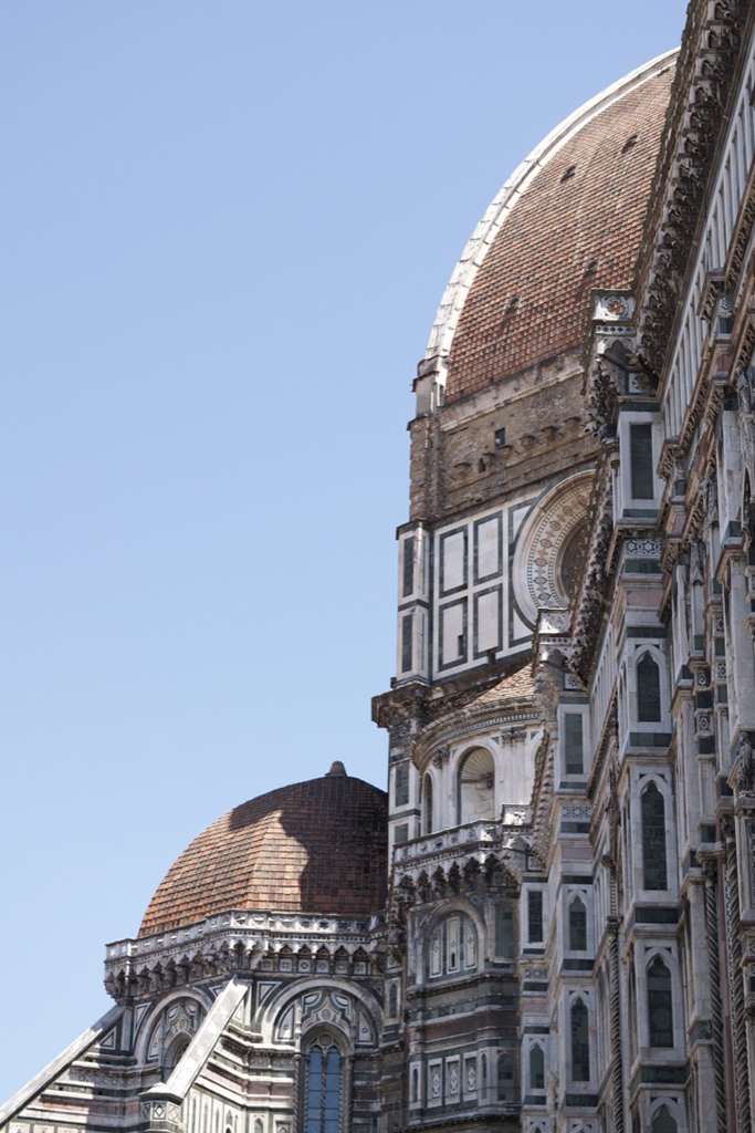 Side view of the Duomo in Florence, Italy