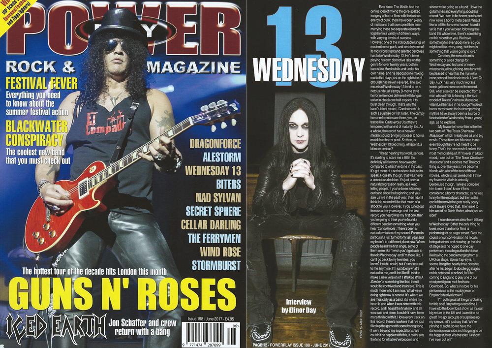 Powerplay Magazine - Cover shot and photo of Wednesday 13