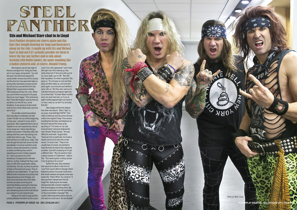 PowerPlay Magazine - Photo and Interview with Steel Panther