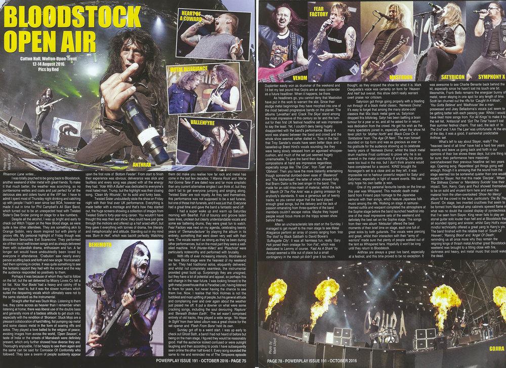 PowerPlay Magazine - Bloodstock 2016 Photos