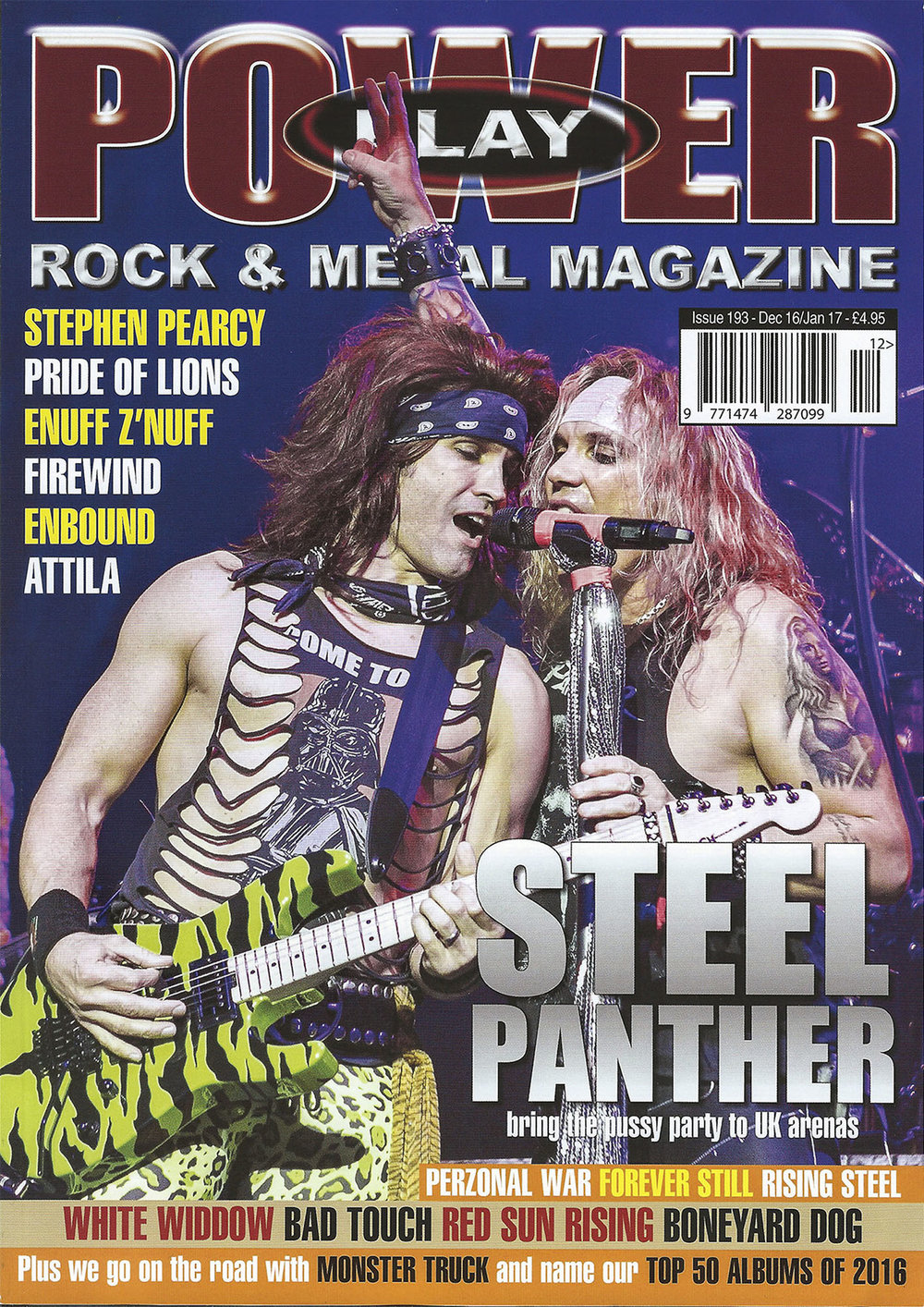 PowerPlay Magazine - Steel Panther Cover shot