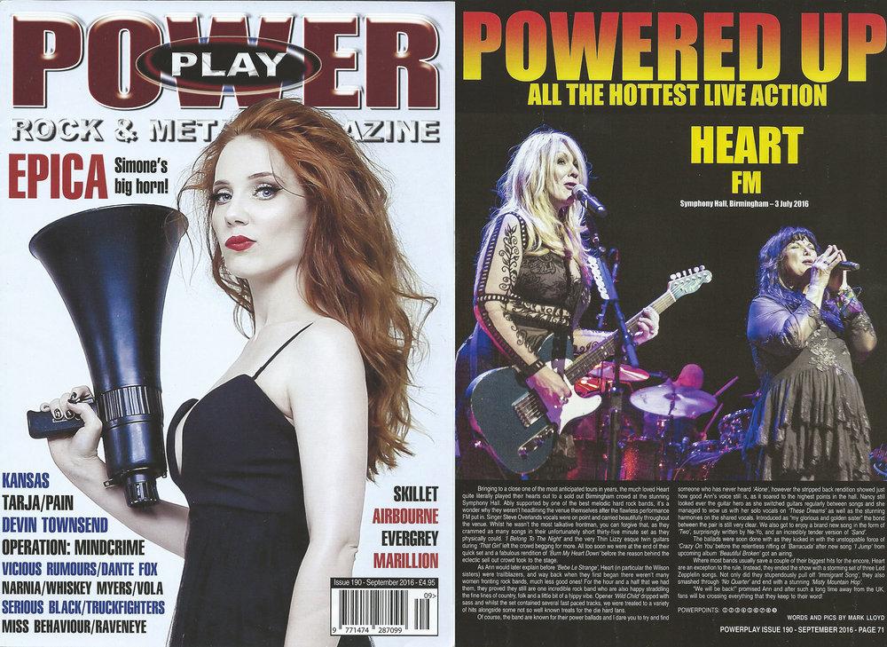 PowerPlay Magazine - Heart Live Review