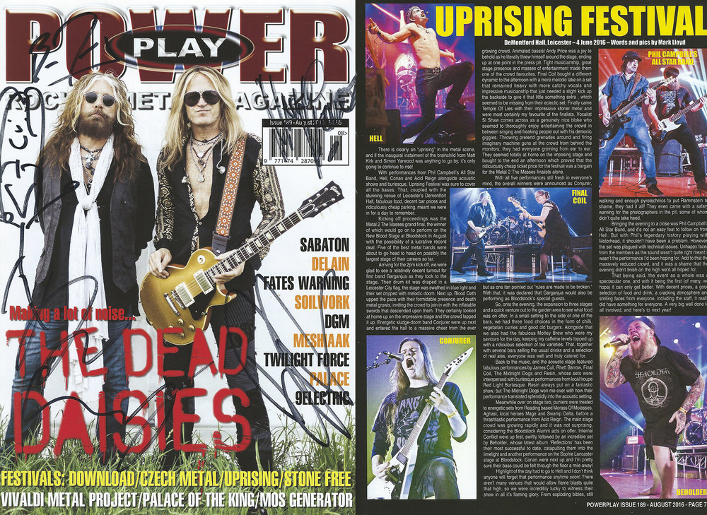PowerPlay Magazine - Uprising Festival 2016 Review and Photos