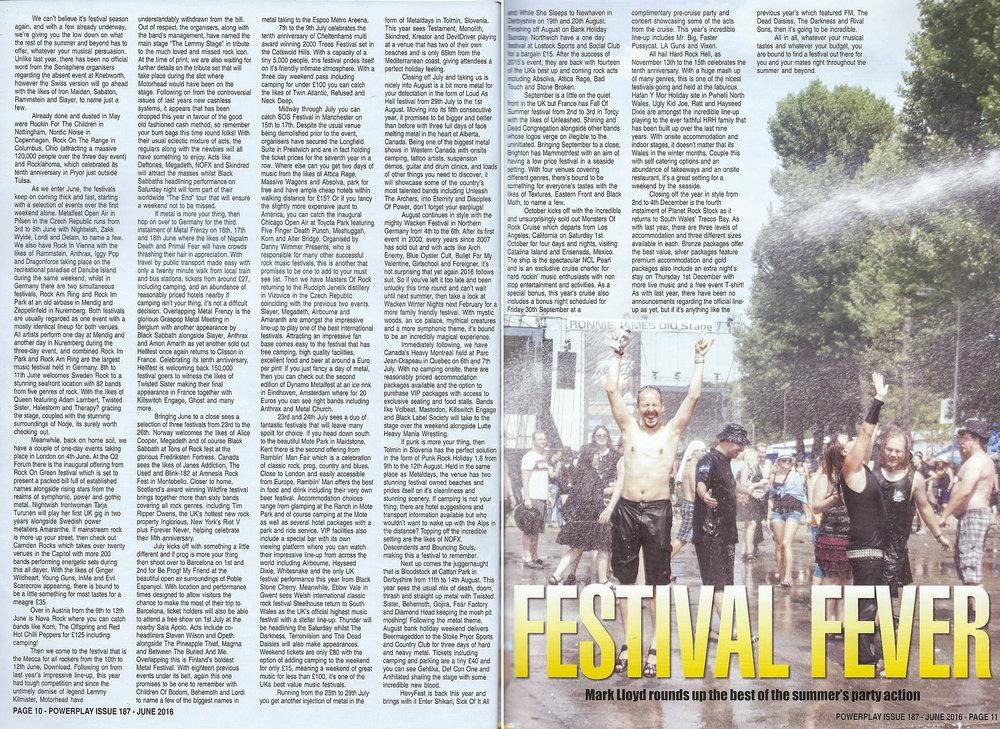 PowerPlay Magazine - Festival Roundup Feature 2016