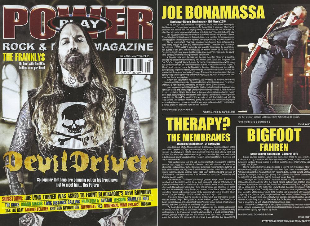 PowerPlay Magazine - Joe Bonamassa Live review and photo