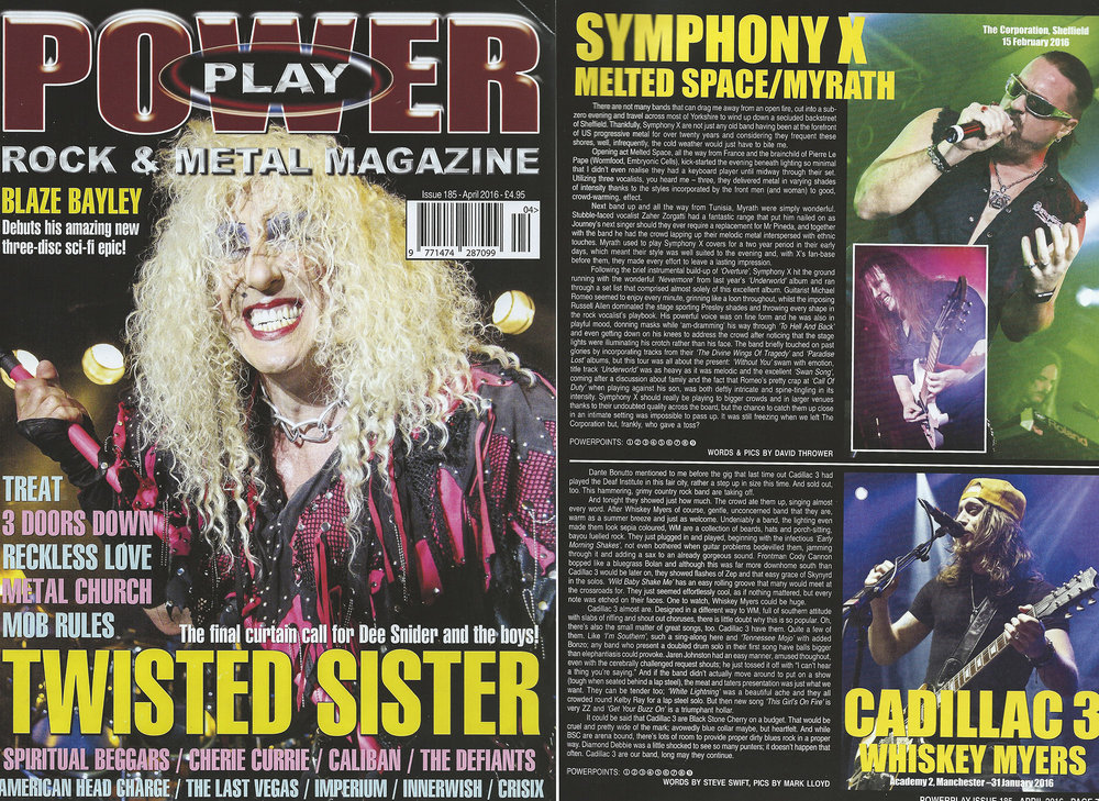PowerPlay Magazine - Cover Image and Cadillac 3 Photo