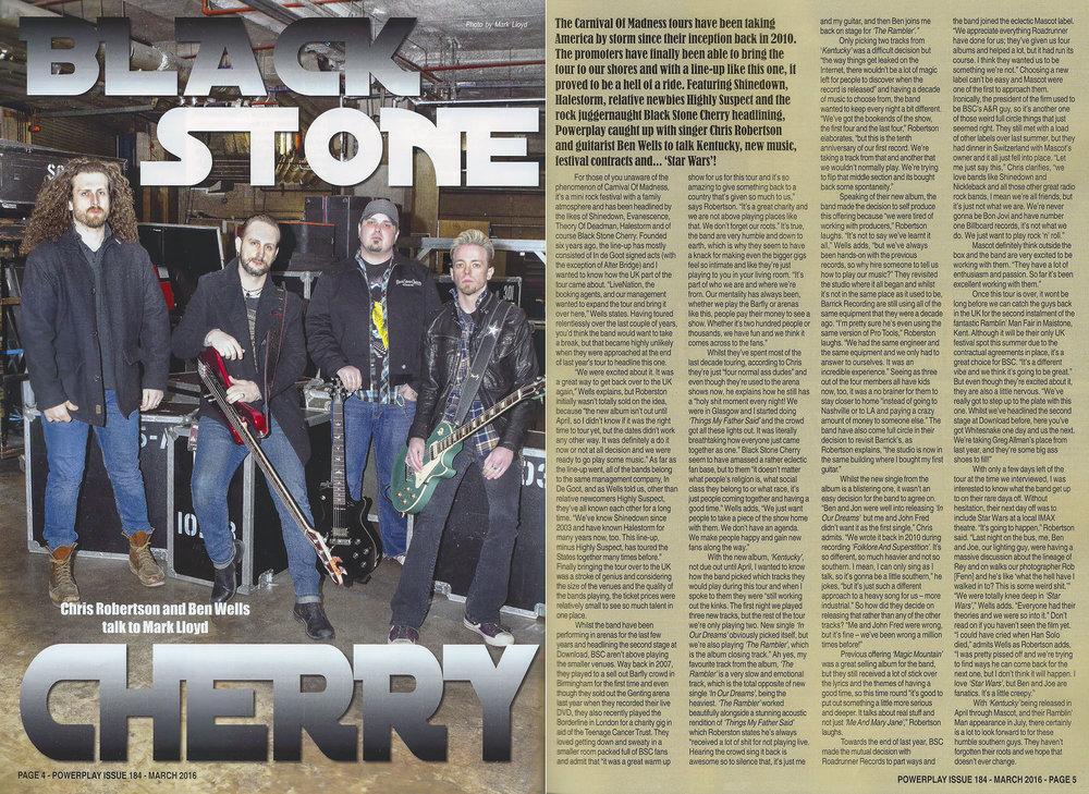PowerPlay Magazine - Black Stone Cherry Photo and Interview