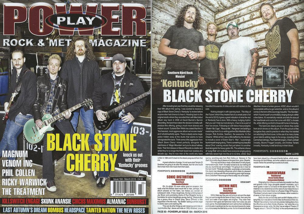 PowerPlay Magazine - Cover shot and Album review