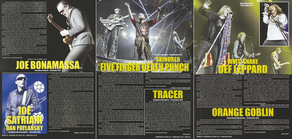PowerPlay Magazine - Jow Bonamassa, Joe Satriani and FFDP Reviews and Photos