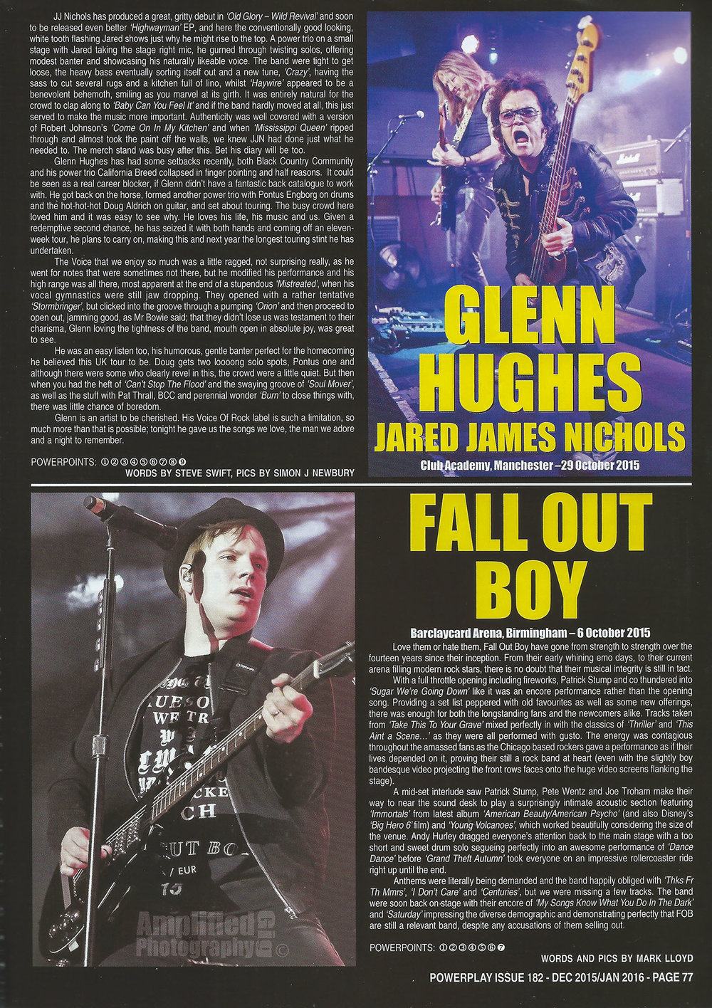 PowerPlay Magazine - Fall out Boy Review and Photo