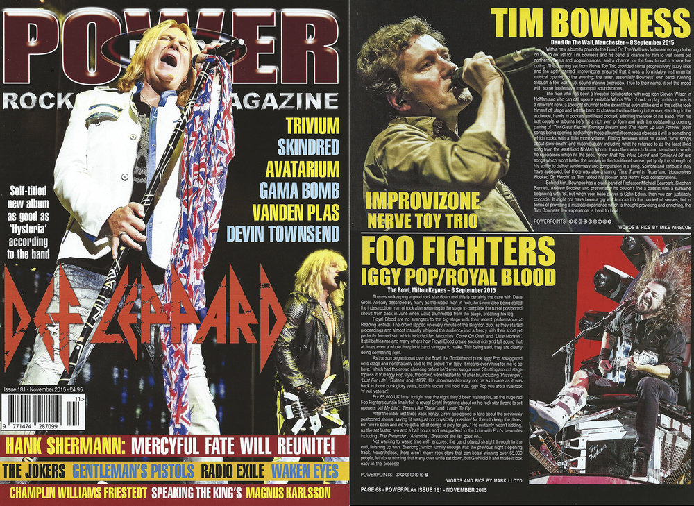 PowerPlay Magazine - Def leppard Cover shot and Foo Fighters live review and Photo