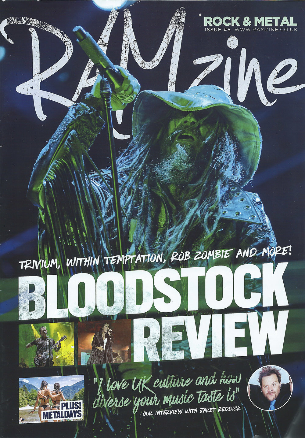 Ramzine Rock and Metal Magazine - Cover Shot