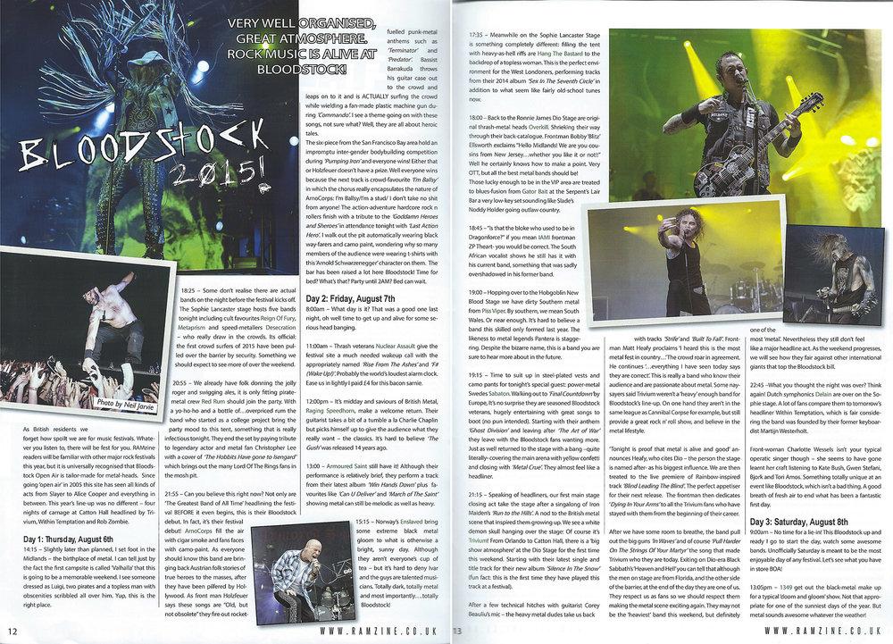Ramzine Rock and Metal Magazine - Bloodstock 2015 Photos